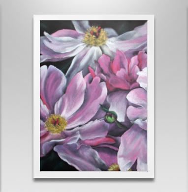 Ностальгия в розовом - Постер в белой раме, живопись