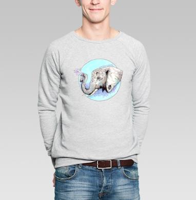 Слон-маляр - Купить мужские свитшоты с акварелью в Москве, цена мужских свитшотов с акварелью  с прикольными принтами - магазин дизайнерской одежды MaryJane
