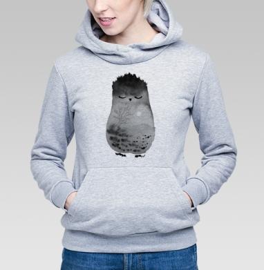 Неизвестное животное, возможно, сова - Купить детские толстовки с акварелью в Москве, цена детских  с акварелью  с прикольными принтами - магазин дизайнерской одежды MaryJane