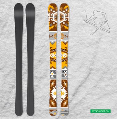 Трибал паттерн в этническом стиле - Наклейки на лыжи