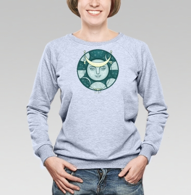Луна луноликая - Купить детские свитшоты с роботами в Москве, цена детских свитшотов с роботами с прикольными принтами - магазин дизайнерской одежды MaryJane