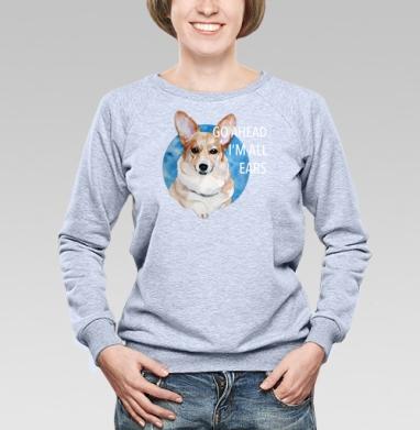 Ушастый Корги - Купить детские свитшоты с собаками в Москве, цена детских свитшотов с собаками  с прикольными принтами - магазин дизайнерской одежды MaryJane