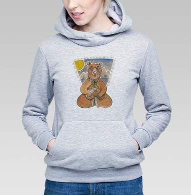 Мишка на севере - Купить детские толстовки с медведем в Москве, цена детских  с медведем  с прикольными принтами - магазин дизайнерской одежды MaryJane