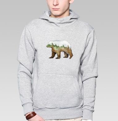 Лесной медведь - Заказать толстовку Москва через интернет. Каталог принтов на толстовке Москва.