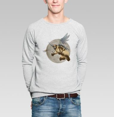 Крылокот - Купить мужские свитшоты с кошками в Москве, цена мужских  с кошками  с прикольными принтами - магазин дизайнерской одежды MaryJane