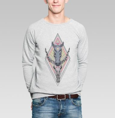 Тотем лошади - Купить мужские свитшоты Текстуры в Москве, цена мужских свитшотов Текстуры с прикольными принтами - магазин дизайнерской одежды MaryJane