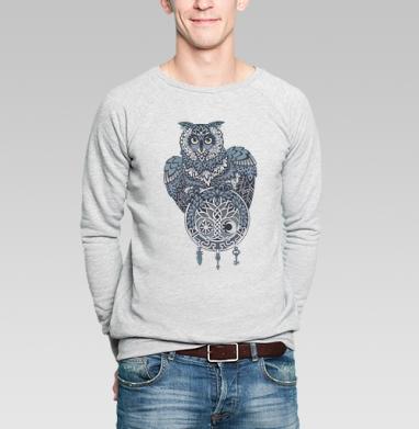 Сова и талисман - Купить мужские свитшоты с узорами в Москве, цена мужских свитшотов с узорами  с прикольными принтами - магазин дизайнерской одежды MaryJane