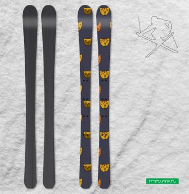 Текстура рыжие коты - Наклейки на лыжи