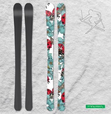 Божьи коровки - Наклейки на лыжи