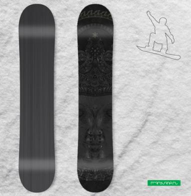 Лики Будды - Виниловые наклейки на сноуборд купить с доставкой. Воронеж