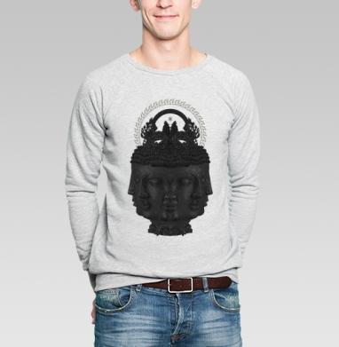 Лики Будды - Купить мужские свитшоты с графикой в Москве, цена мужских  с графикой  с прикольными принтами - магазин дизайнерской одежды MaryJane