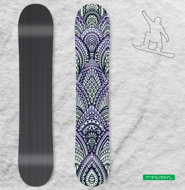Ананаскин паттерн - Наклейки на доски - сноуборд, скейтборд, лыжи, кайтсерфинг, вэйк, серф