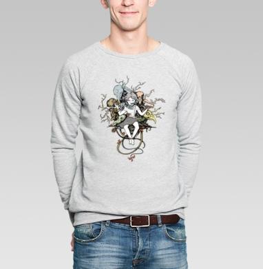 Дриада - Купить мужские свитшоты с деревьями в Москве, цена мужских свитшотов с деревьями  с прикольными принтами - магазин дизайнерской одежды MaryJane