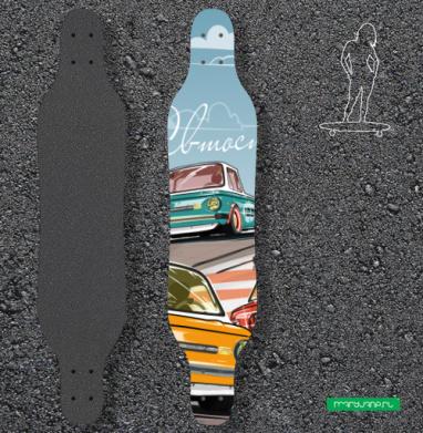 Ралли винтаж - Наклейки на лонгборд