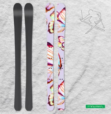 Бабочки мерцают - Наклейки на лыжи