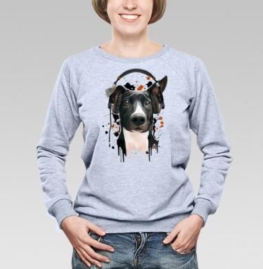 Пёс меломан - Купить детские свитшоты с собаками в Москве, цена детских свитшотов с собаками  с прикольными принтами - магазин дизайнерской одежды MaryJane