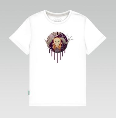 Детская футболка белая 160гр - Фавн