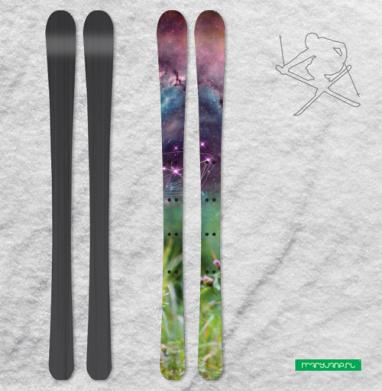 Сон про кита и васильки - Наклейки на лыжи
