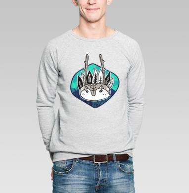 Полевой дух - Купить мужские свитшоты с индейцами в Москве, цена мужских свитшотов с индейцами  с прикольными принтами - магазин дизайнерской одежды MaryJane