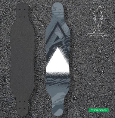 Треугольник света - Наклейки на лонгборд