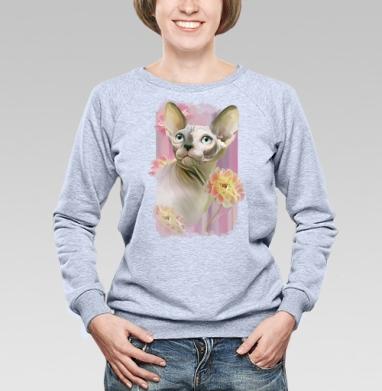 Сфинкс с розами. - Купить женские свитшоты с роами в Москве, цена женских свитшотов с розой с прикольными принтами - магазин дизайнерской одежды MaryJane