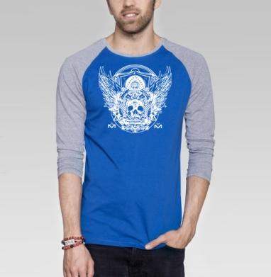 Надежда - Футболка мужская с длинным рукавом синий / серый меланж, символ, Популярные