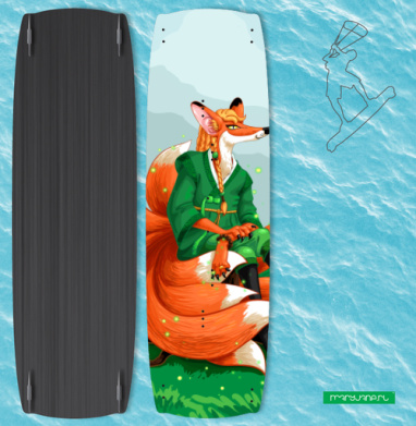 Девятихвостая лиса кумихо - Наклейки на кайтсерфинг/вэйк
