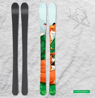 Девятихвостая лиса кумихо - Наклейки на лыжи