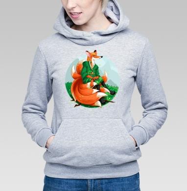 Девятихвостая лиса кумихо - Купить детские толстовки с летом в Москве, цена детских толстовок с летом  с прикольными принтами - магазин дизайнерской одежды MaryJane