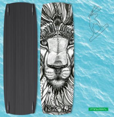 Стилизованный лев - Наклейки на кайтсерфинг/вэйк