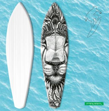 Стилизованный лев - Наклейки на серф