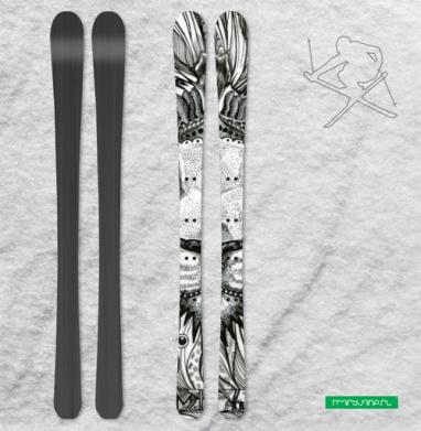 Стилизованный лев - Наклейки на лыжи
