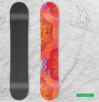 Мандала. Огонь - Наклейки на доски - сноуборд, скейтборд, лыжи, кайтсерфинг, вэйк, серф