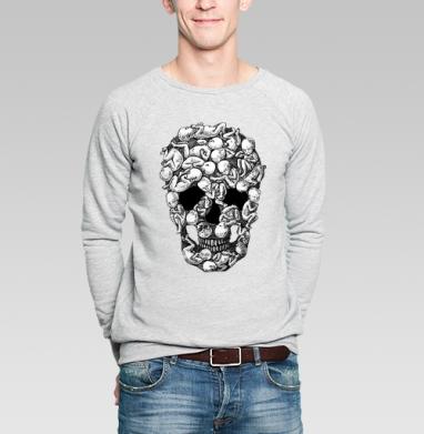 От рождения до смерти - Купить мужские свитшоты с черепом в Москве, цена мужских  с черепом  с прикольными принтами - магазин дизайнерской одежды MaryJane