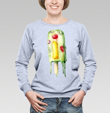 Замороженная Ай - Купить детские свитшоты с мороженным в Москве, цена детских свитшотов с мороженным  с прикольными принтами - магазин дизайнерской одежды MaryJane