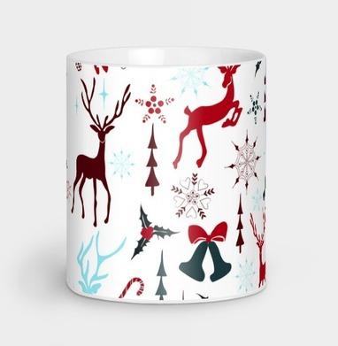 Рождественские олени - Кружки с логотипом