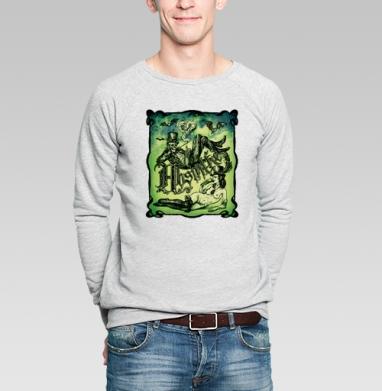Абсентовая фантазия. - Купить мужские свитшоты винтажные в Москве, цена мужских свитшотов винтажных  с прикольными принтами - магазин дизайнерской одежды MaryJane