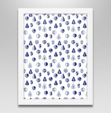 Маленькие деревья, Постер в белой раме