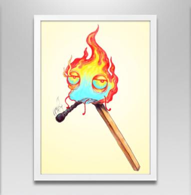 Товарищ  огонек - Постер в белой раме, персонажи