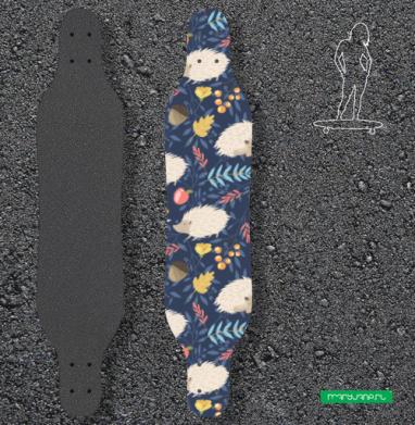 Ежики - Наклейки на лонгборд