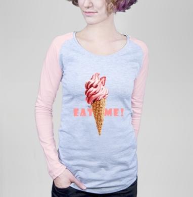 Мороженое - рожок - Футболки с длинным рукавом женские. Новинки