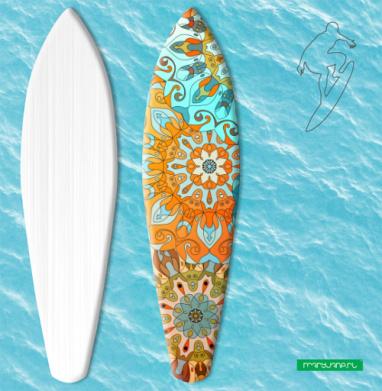 Солнечная мандала - Наклейки на серф