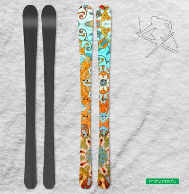 Солнечная мандала - Наклейки на лыжи