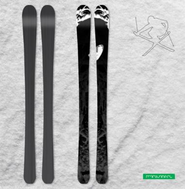 Лесной маг - Наклейки на лыжи