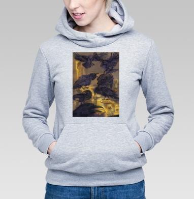 Семь воронов, Толстовка Женская серый меланж 340гр, теплая