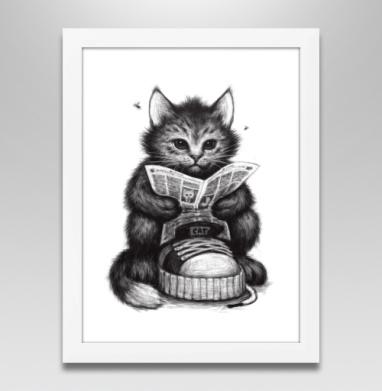 Кот в ботинке, Постер в белой раме