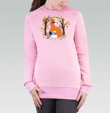 Cвитшот женский розовый  320гр, стандарт - Fox