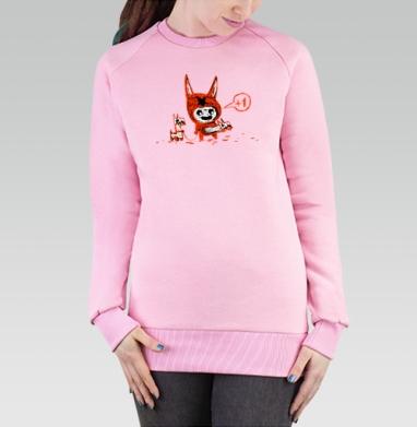 Плюс Один, Cвитшот женский розовый  320гр, стандарт