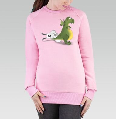 Рождение символа 2012 года, Cвитшот женский розовый  320гр, стандарт