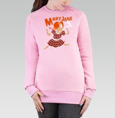 Cвитшот женский розовый  320гр, стандарт - Miss Мери Джейн Mary Jane